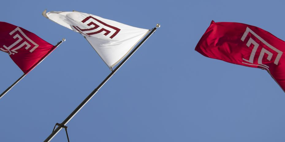 Temple Flags moving in the flag